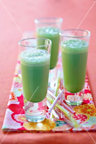 Green tea, jade mousse milkshake