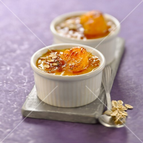 Carrot,clementine,ginger and porridge Crème brûlée