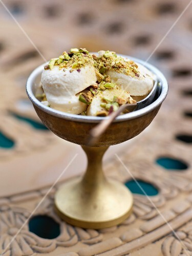 Cardamom and rose-flavored Kulfi