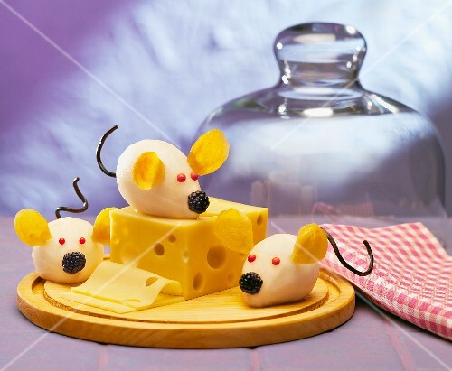 Emmental and mice-shaped potatoes