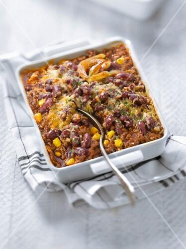 chili con carne auflauf bild kaufen 60186767 stockfood. Black Bedroom Furniture Sets. Home Design Ideas