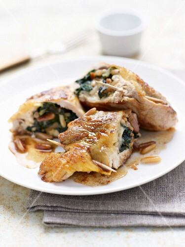 Spinach and pine nut Saltimbocca