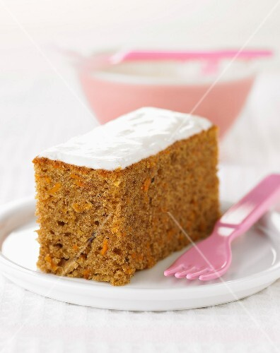 Portion of carrot cake
