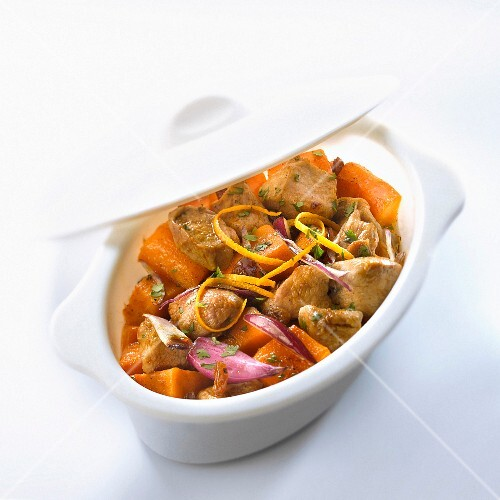 Chopped veal with carrots and orange butter