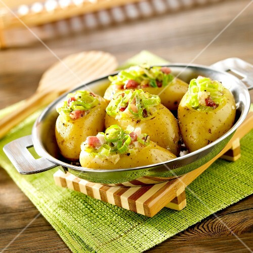 Charlotte des Sables potatoes stuffed with leeks and diced potatoes