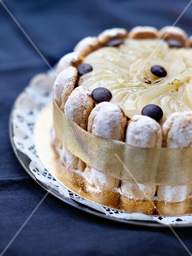 Pear Charlotte with chocolate