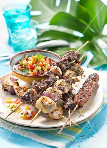 Churrasco,assorted meats cooked on embers