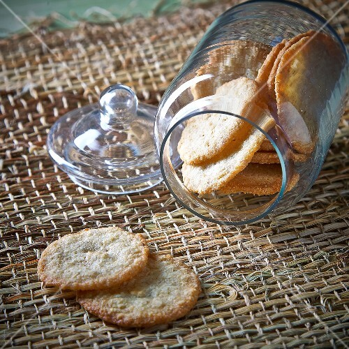 Jar of coconut cookies