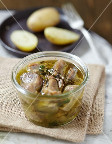 Confit pork with thyme