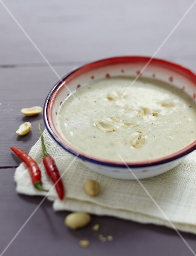 Peanut and pepper soup from Africa