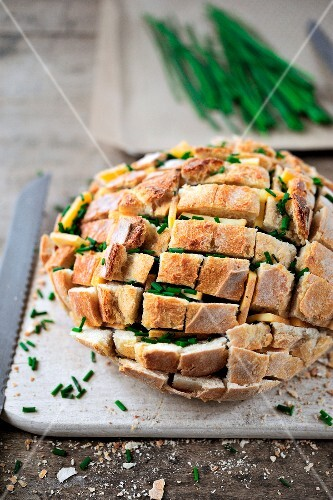 Cheese and chive bread loaf