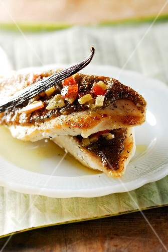 John Dory with vanilla and seasonings