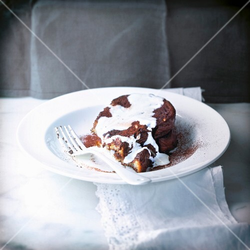 Brioche french toast with chocolate