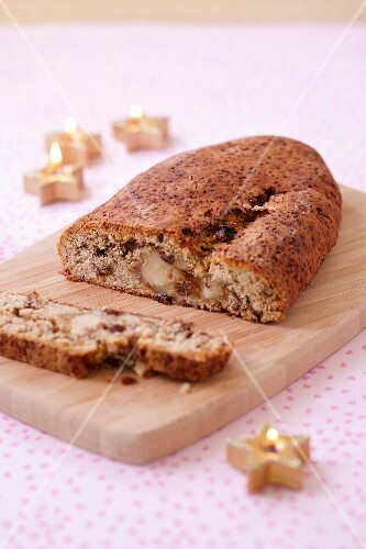 Marzipan and dried fruit Stollen