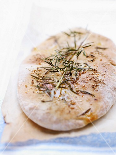 Olive oil,sesame seed and rosemary Fougasse