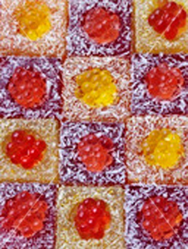 Fruit pearl frosted squares