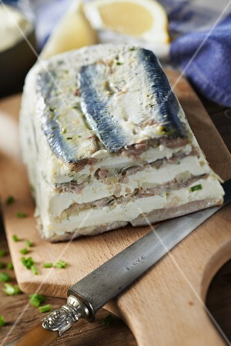 Sardine,cream and Roscoff onion terrine