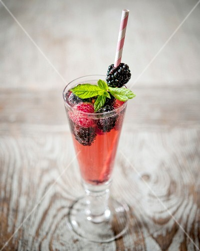 Glass of summer fruit cordial