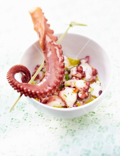 Octopus salad with olive oil