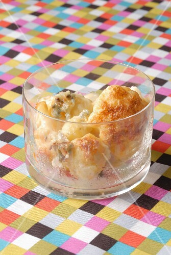 Little Cauliflower gratin with Roquefort cheese