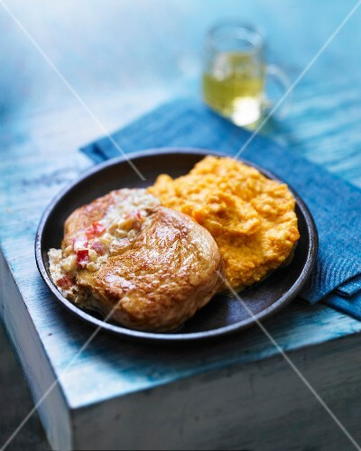 Medaillon of veal with vintage rum and mashed sweet potatoes