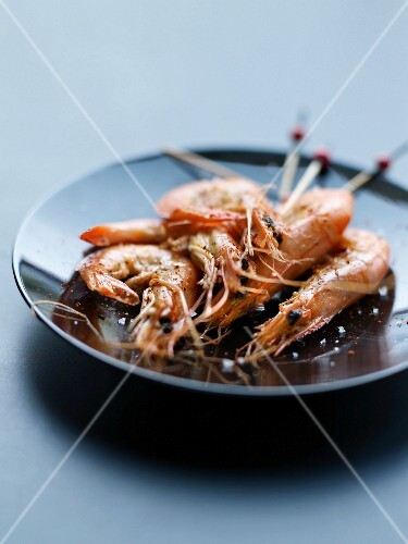 Farmed shrimps from Mozambic with spicies and salt
