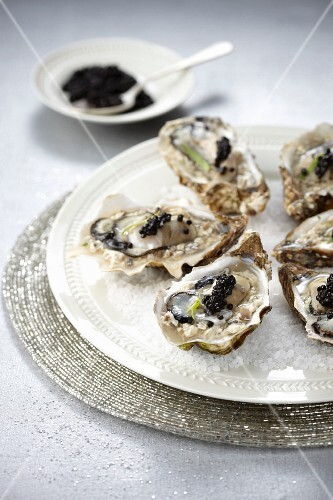 Oysters in caviar aspic by Georges Blanc