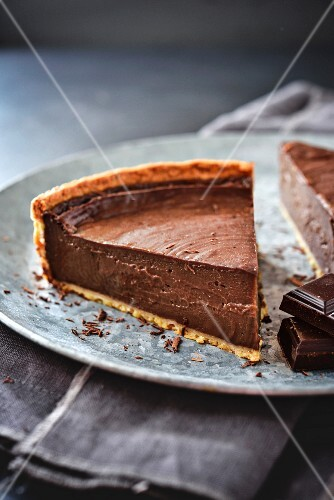 Chocolate baked egg custard pie