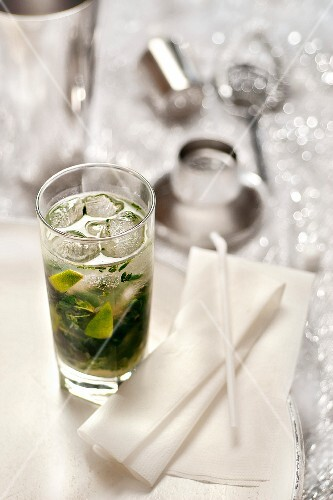 Glasses of mojito
