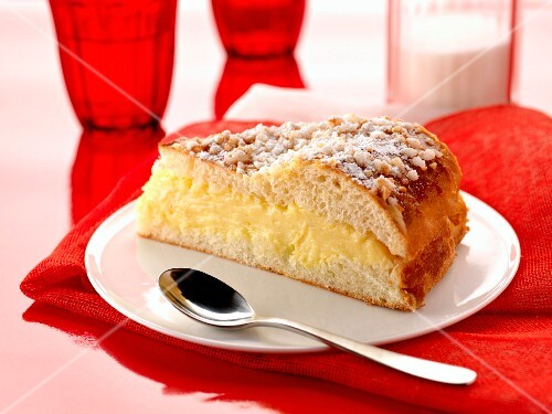 Slice of Ttropézienne tart