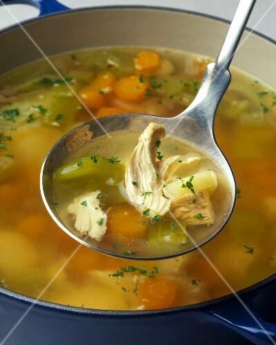 Варим суп из курицы рецепт