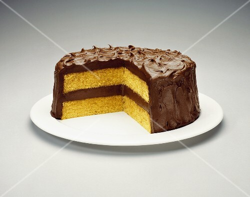 Yellow Layer Cake with Chocolate Frosting – StockFood