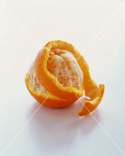 Partially Peeled Orange