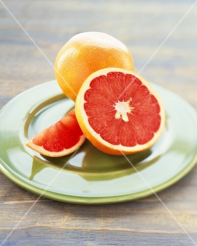 Pink Grapefruit; Whole, Half and a Wedge