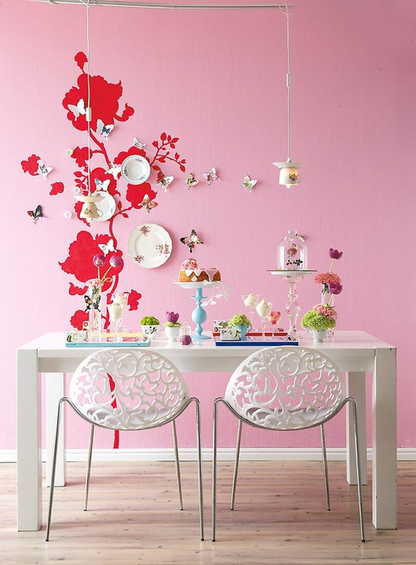 Decorate with Flowers and Butterflies