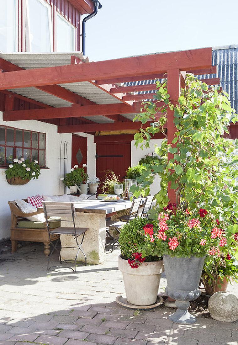 Charming Swedish Courtyard