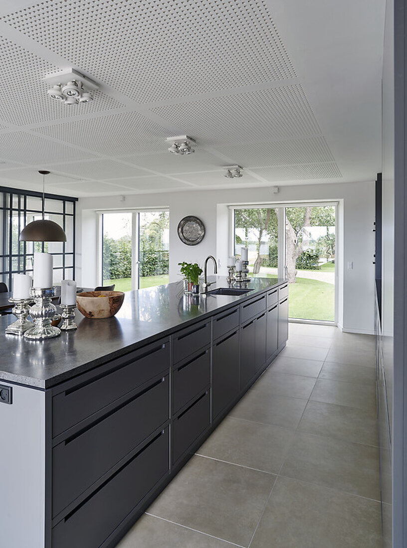 Spacious Kitchen with a View