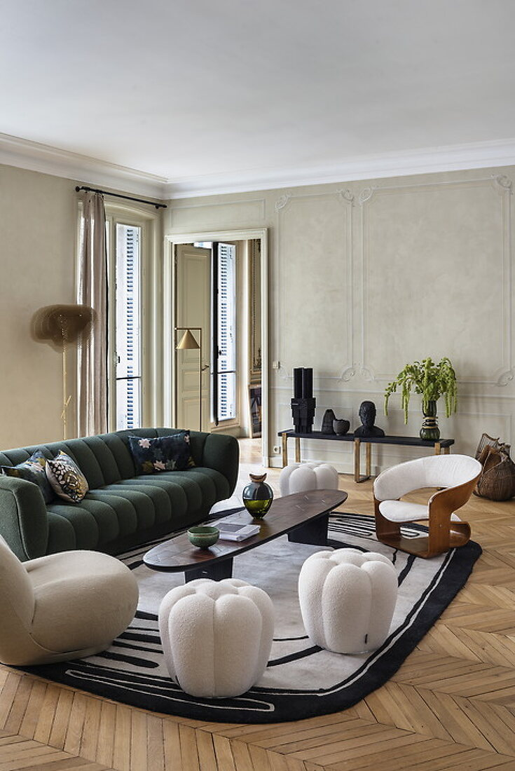 Curated Pieces in a Stylish Paris Apartment