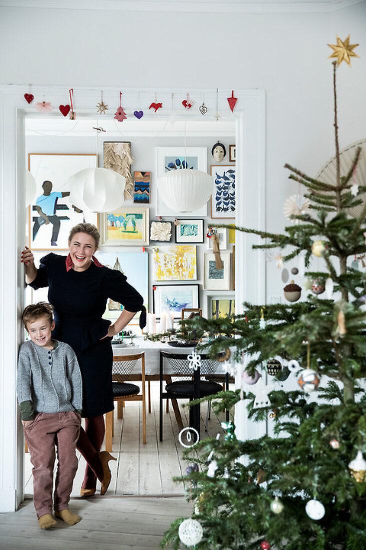 Christmas at a Creative Retro Villa