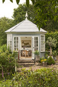 Lush Garden with Regal Gazebo