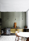 Rough Brass & Concrete Kitchen