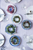 Table Setting with Plants and Porcelain