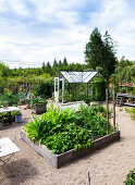 Charming Country Kitchen Garden