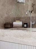 Small yet Luxurious Art Deco Bathroom