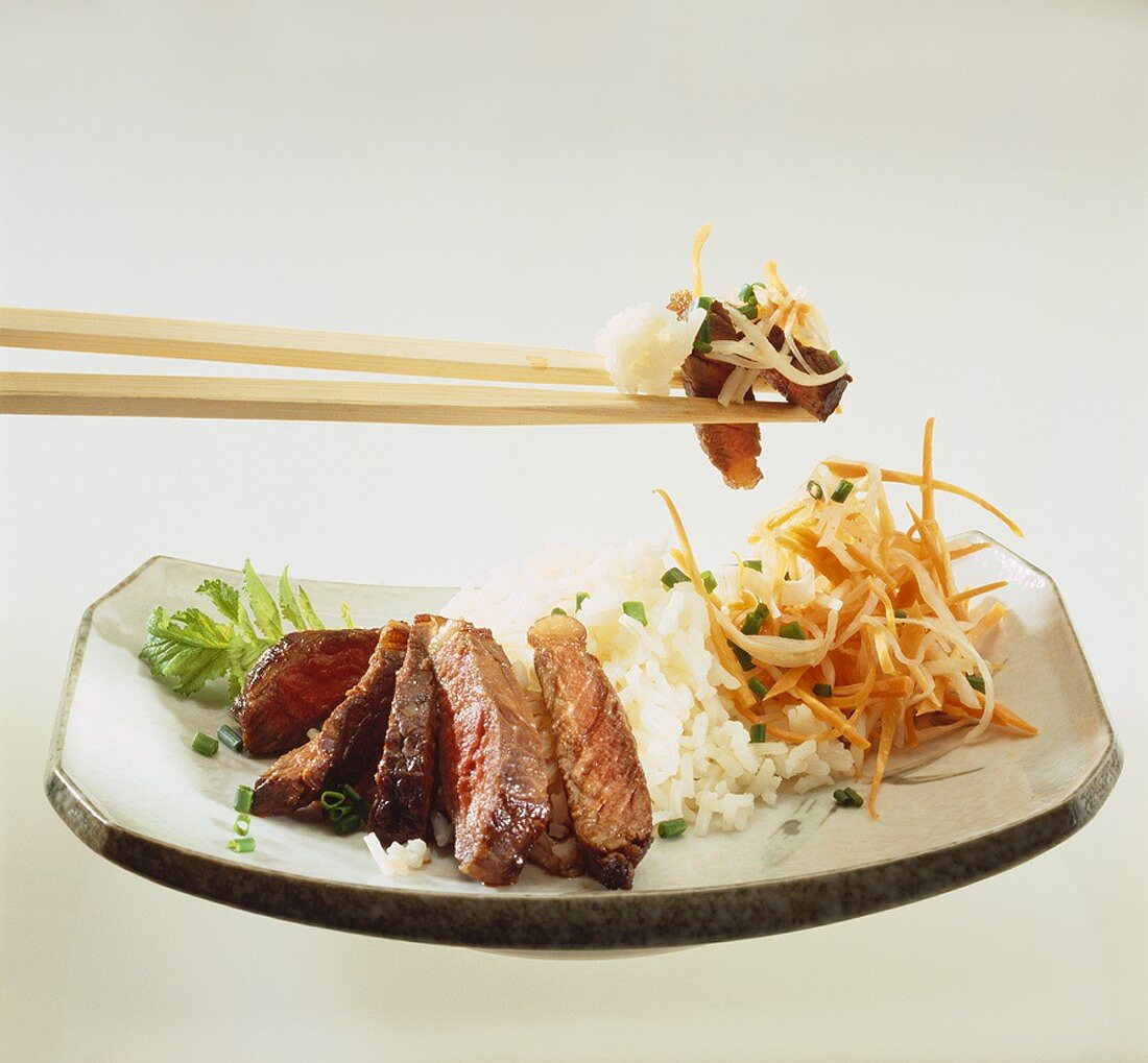 Japanese-style rump steak