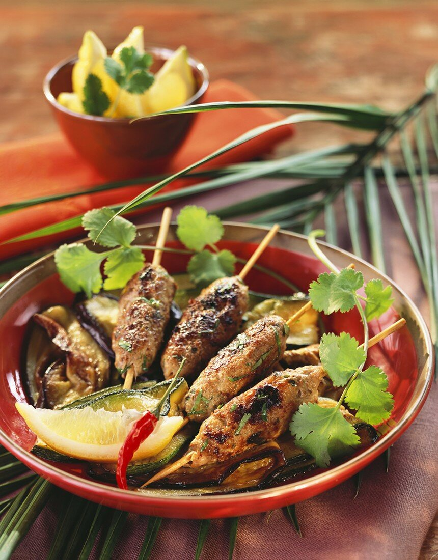 Kefta (Minced lamb kebabs with coriander & parsley, Morocco)