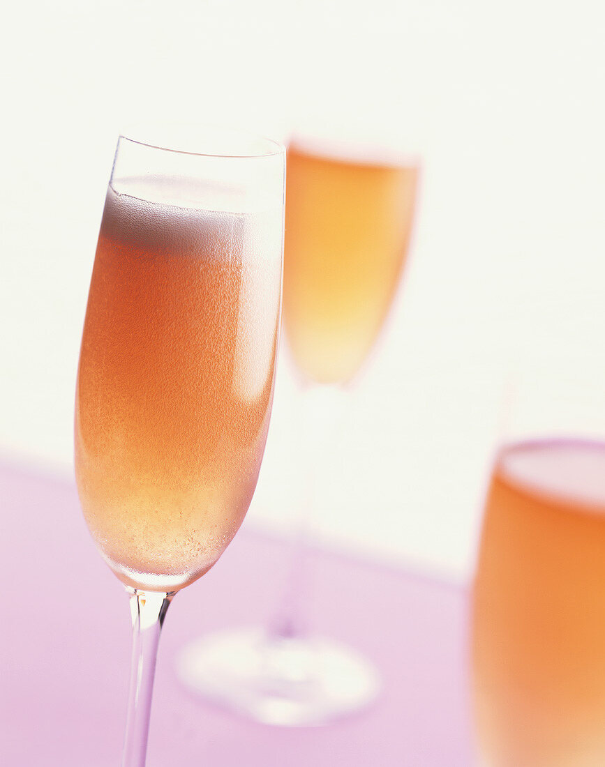 Pick me up: champagne cocktail