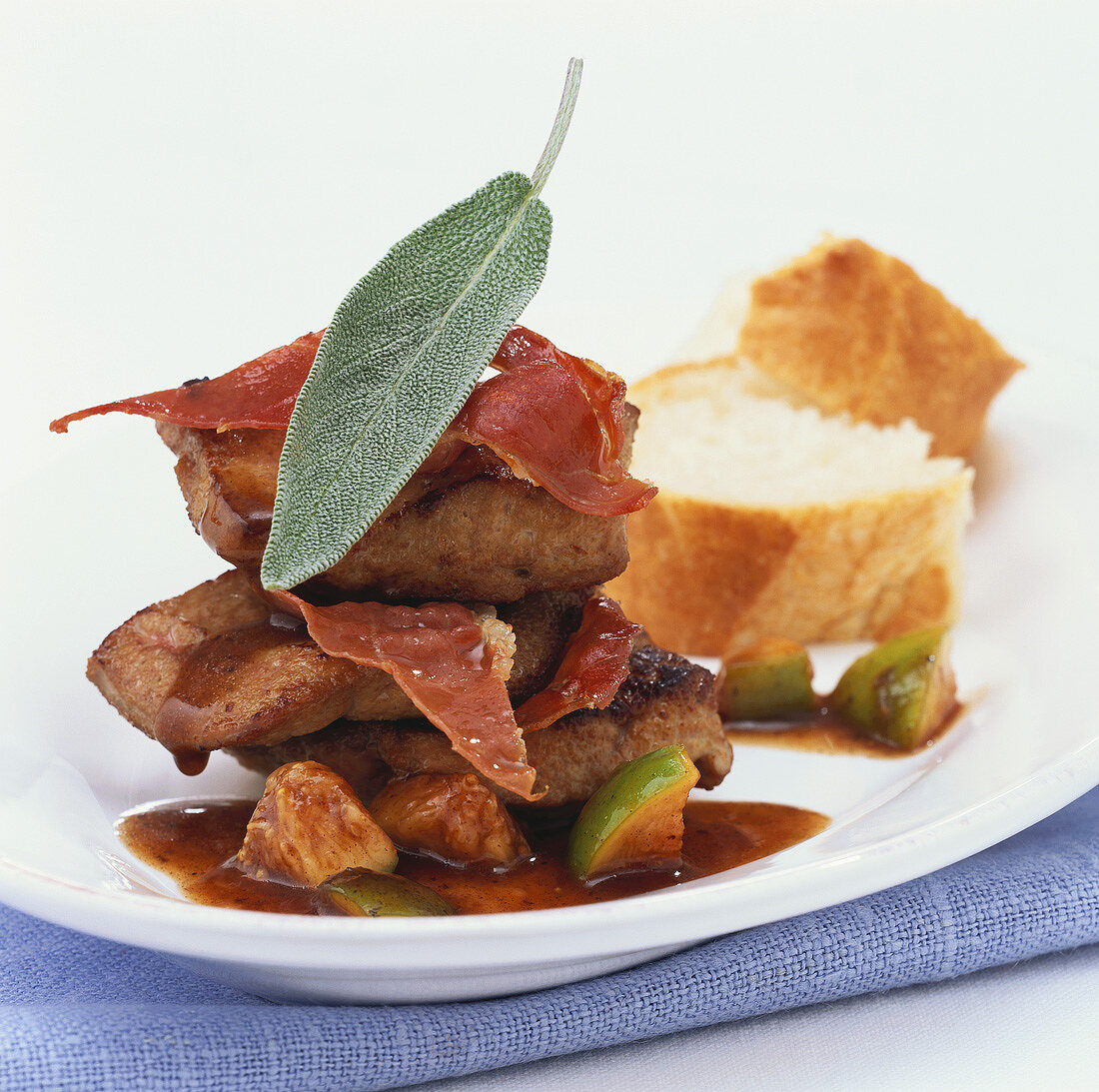 Calf's liver with figs and Parma ham