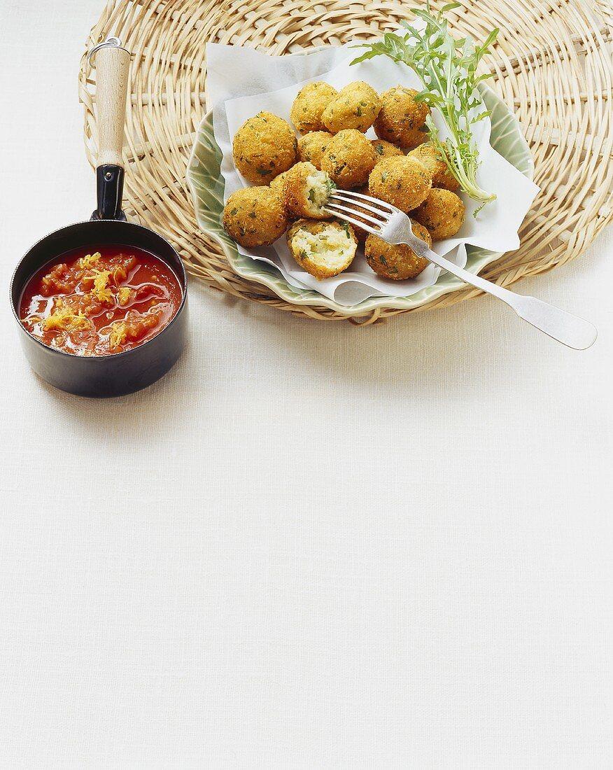 Pallotte cacio e uova (cheese and egg balls), Abruzzo, Italy