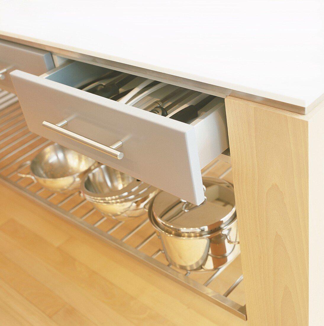 A cutlery drawer